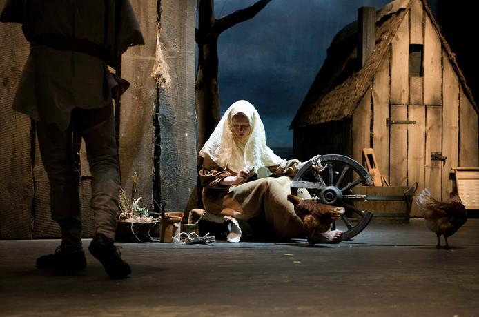 Een scène uit de voorstelling 'Hoe de grote mensen weggingen en wat er daarna gebeurde.'