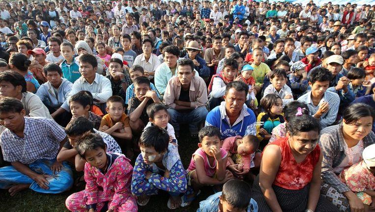 Birmese vluchtelingen in Thailand Beeld