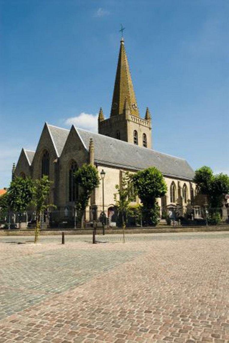 De Sint-Amatuskerk in Oostvleteren