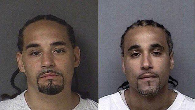 Richard Anthony Jones (rechts) heeft 17 jaar in de gevangenis gezeten. Nu is hij vrijgelaten omdat zijn dubbelganger is opgedoken en niet duidelijk is wie de overval heeft gepleegd.