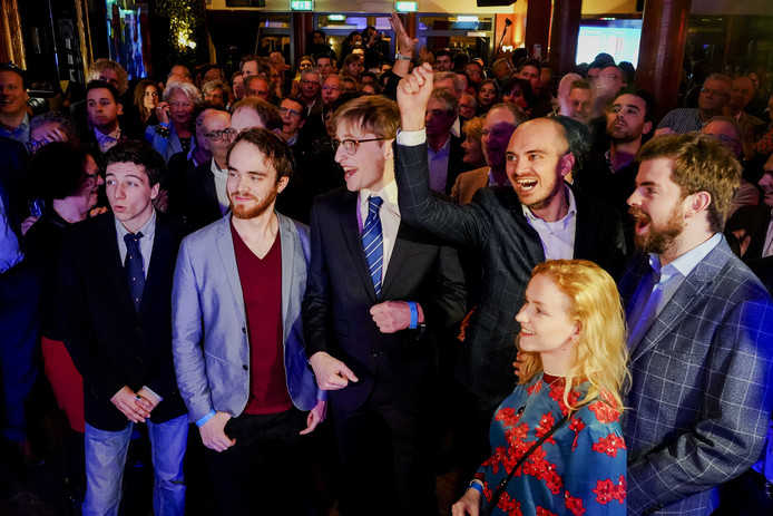 De VVD tijdens de uitslagenavond van de Provinciale Staten- en Waterschapsverkiezingen.