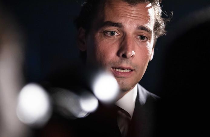 Thierry Baudet (FvD) tijdens een FVD-bijeenkomst in Taets.