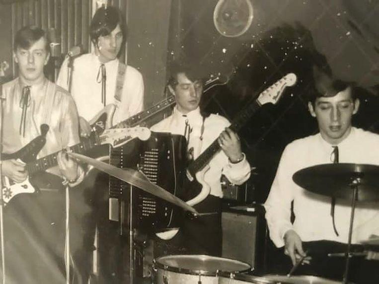 The Spiders 50 jaar geleden met Mick Deville tweede van links