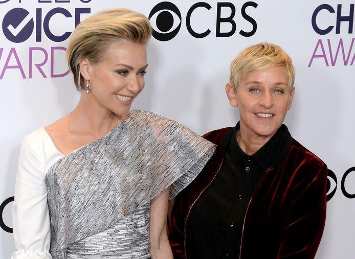 Portia De Rossi met haar vrouw, Ellen Degeneres.
