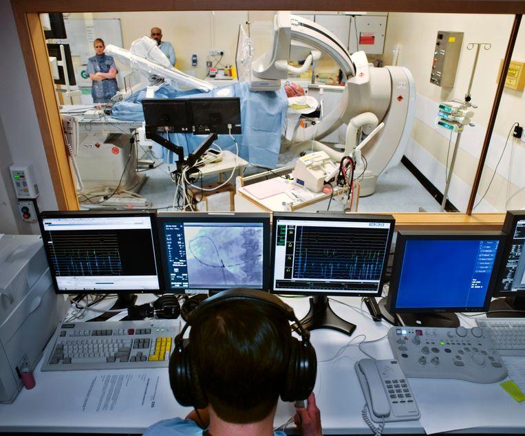 Onderzoekskamer voor hartritmestoornissen.  Beeld Science Photo Library