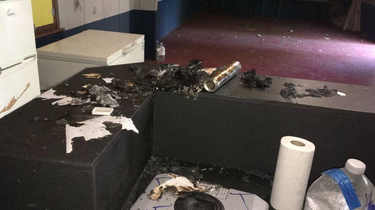 Op een paar plaatsen werd vuur gestookt.