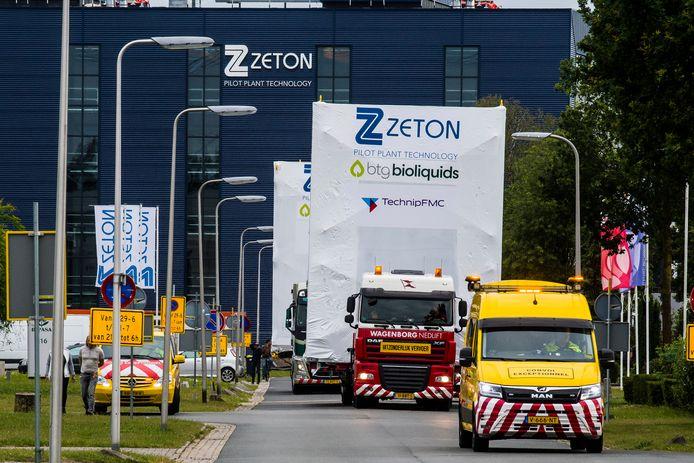 Het transport vertrok maandagavond vanuit Enschede.
