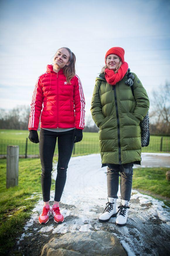 Tessa Wullaert en Haïke Vandecasteele.