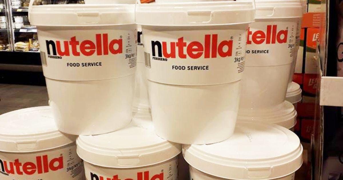 Nutella in potten van 3 kilo? Deze supermarkt heeft ze (en