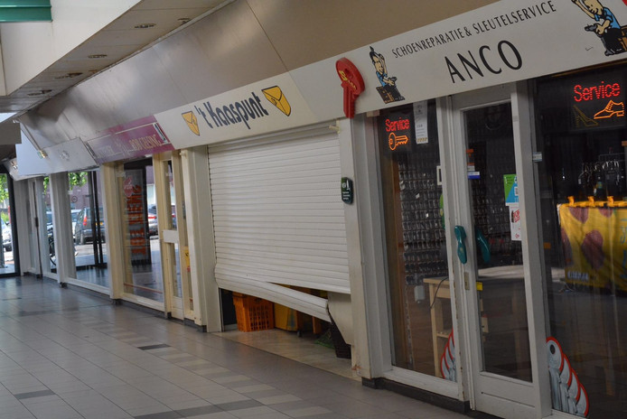 Grote schade in winkelcentrum Geldrop