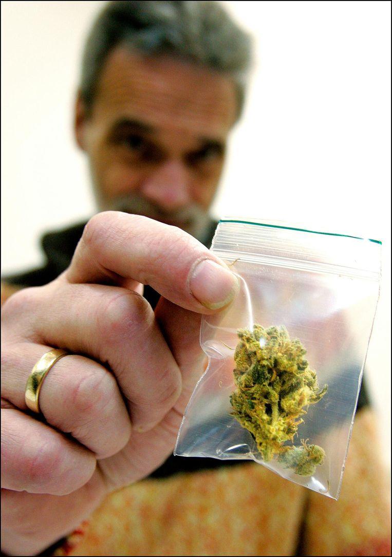 Mediwiet in eerste cannabisapotheek van Nederland, in 2007 geopend in de stad Groningen. Beeld anp