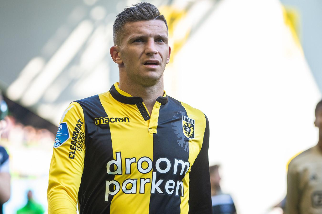 Een teleurgestelde Bryan Linssen na Vitesse - Ajax.
