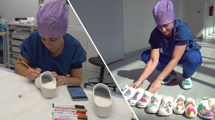 Tekenkunsten van Mariska kleuren de operatiekamer