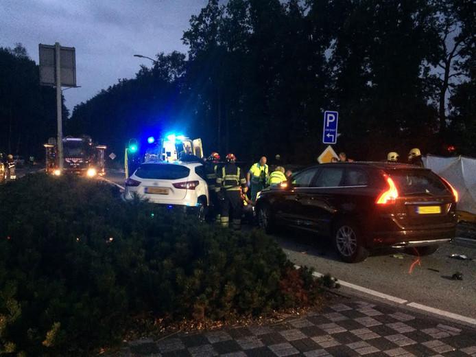 Bij de afrit van de A67 bij Geldrop is een ongeval gebeurd
