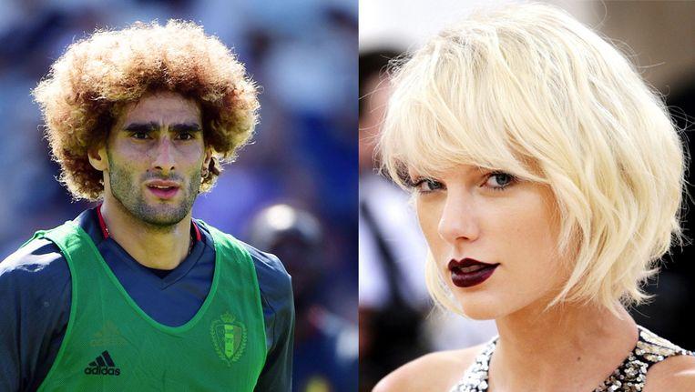 Marouane Fellaini en Taylor Swift gingen allebei recent blond(er).
