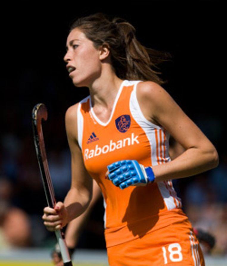 Naomi van As is volgens de wereldhockeybond uitgegroeid tot de uitblinkster van het Nederlands team. Foto ANP Beeld