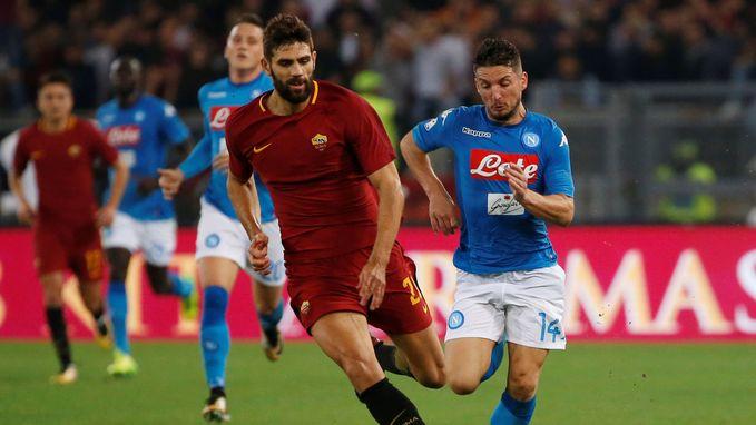 Napoli behoudt maximum van de punten na nipte overwinning tegen AS Roma