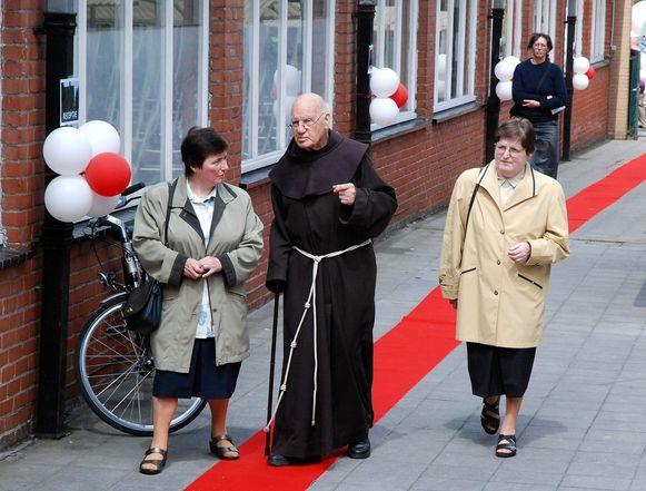 Pater Odilo in 2007, het jaar waarin de bruine paters Tielt verlieten.