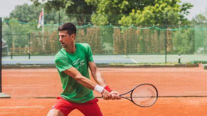 Daar is Djokovic weer: Novak traint voor het eerst sinds positieve coronatest