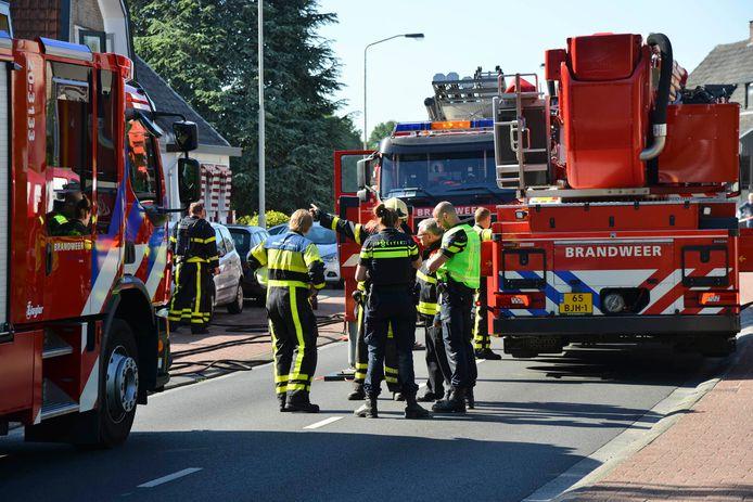 Uitslaande woningbrand door gaslek in Breda.