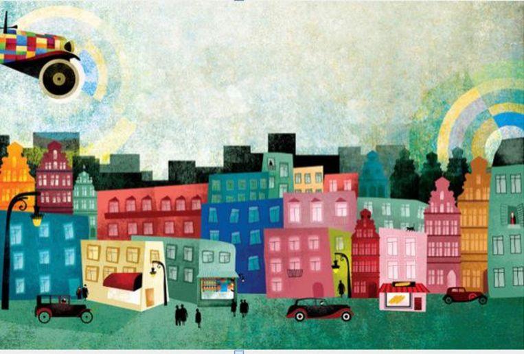 Enkele voorbeelden van Fatinha's kleurrijke tekeningen.