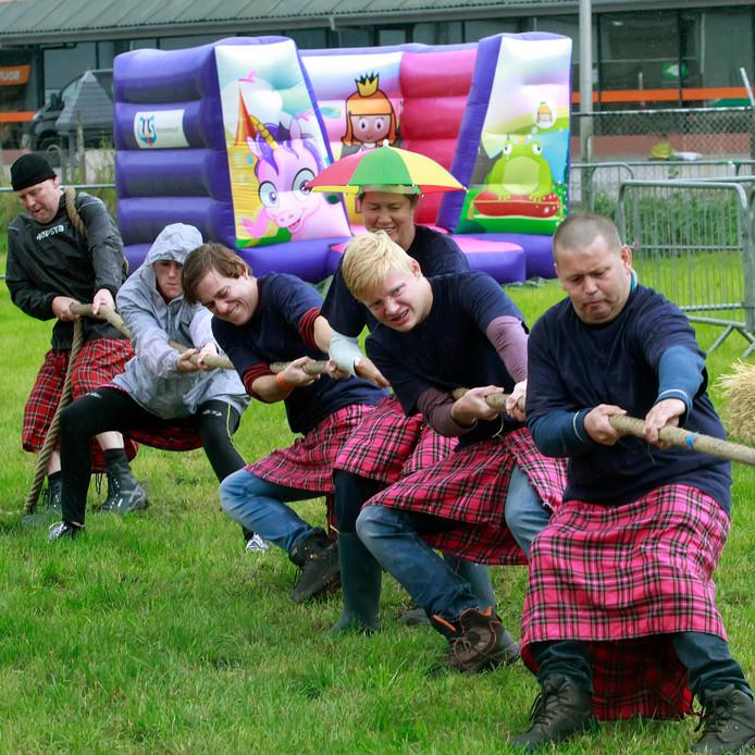 Highland Games (elders). Foto ter illustratie.