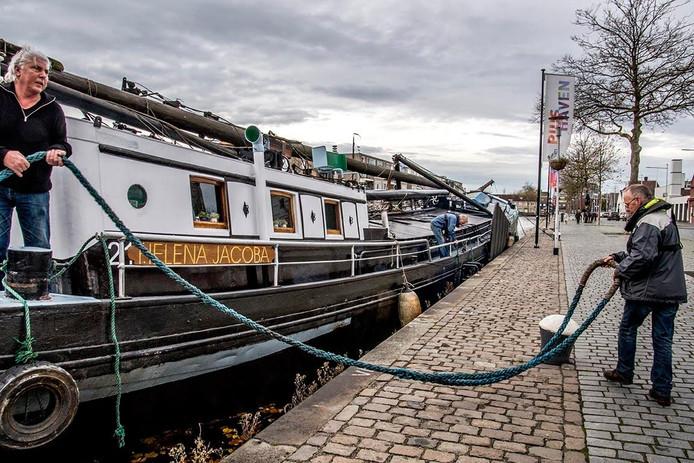 De Helena Jacoba ligt sinds vandaag in de Piushaven. Foto Jan van Eijndhoven