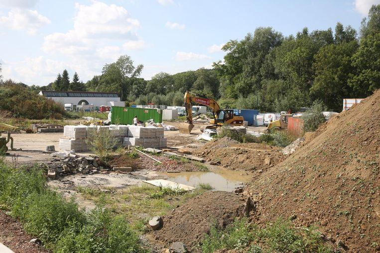 Op de voormalige Volvo-site wordt druk gewerkt.