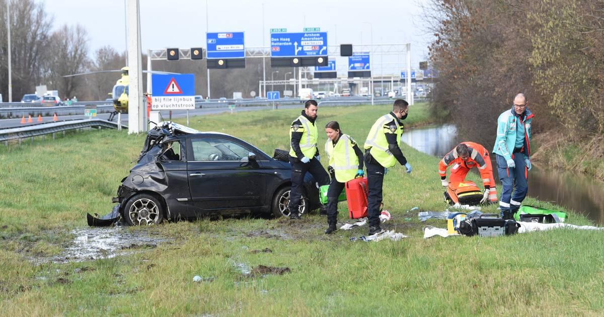 A2 afgesloten door zwaar ongeval ter hoogte van Nieuwegein.