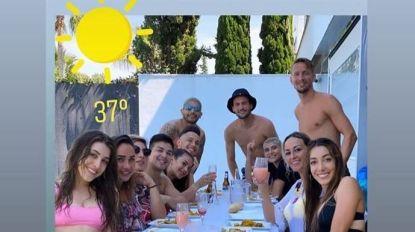 Groepsfoto van etentje in Sevilla brengt Nederlandse spits Luuk de Jong in diskrediet