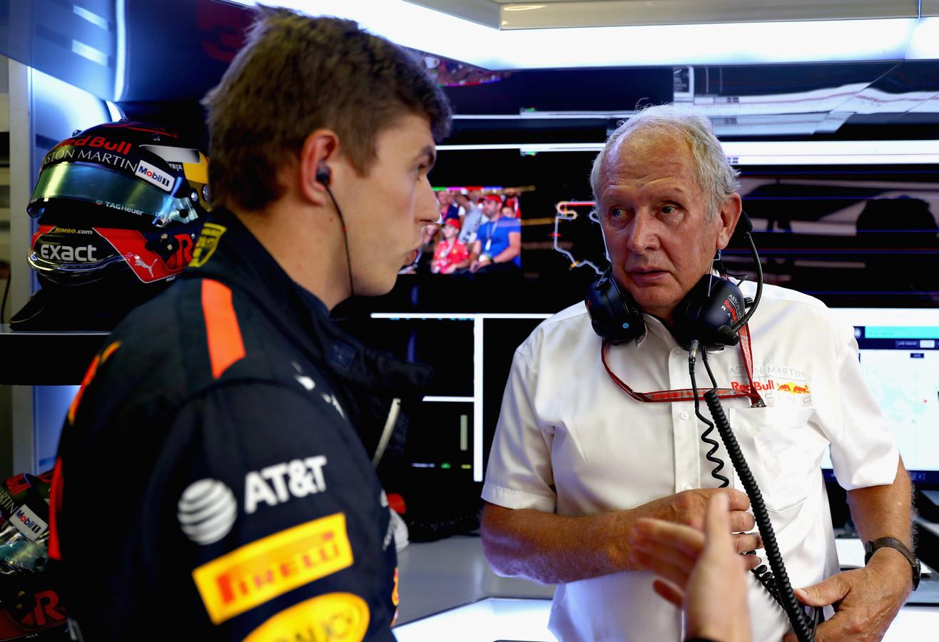 Helmut Marko met Max Verstappen