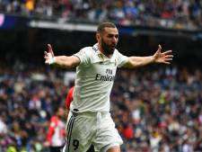 Benzema loodst Real Madrid met hattrick langs Bilbao