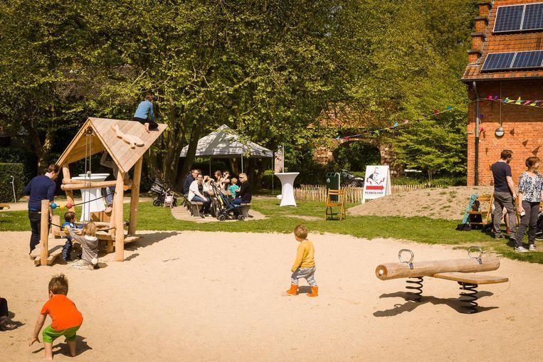 Het nieuwe Spellekenspark naast de bibliotheek in de Heiveldstraat.