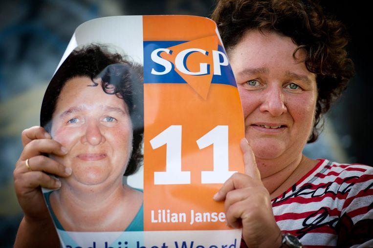 Lilian Janse werd in 2014 het eerste vrouwelijke gemeenteraadslid voor de SGP. Beeld ANP