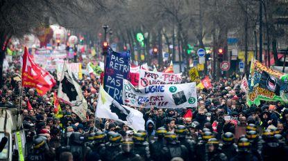 Opnieuw honderdduizenden mensen op straat tegen pensioenhervorming Franse regering