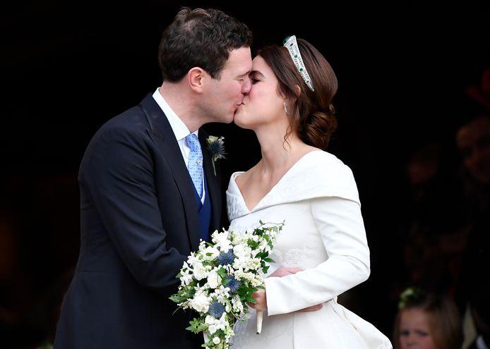 Eugenie en Jack op hun huwelijksdag