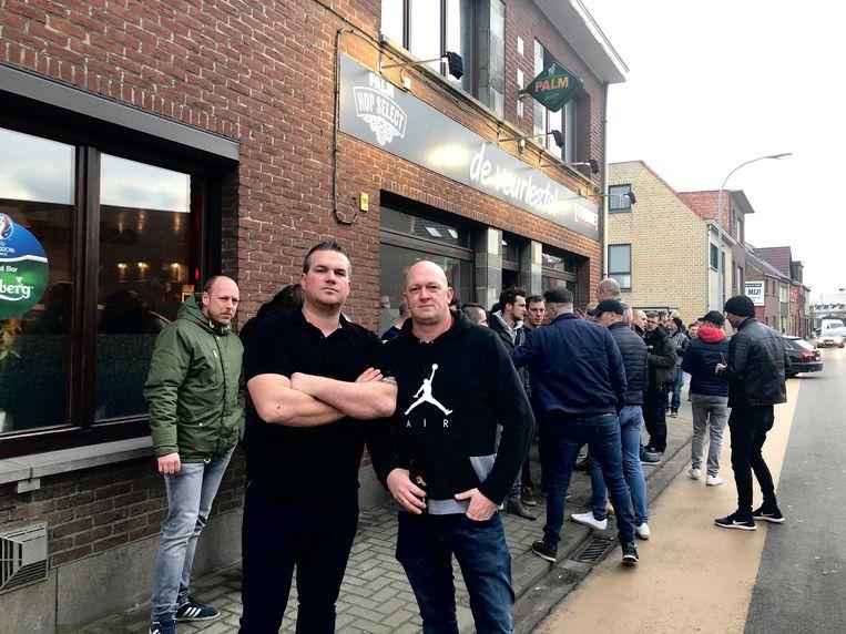 Initiatiefnemers Tom en Steve 'Avondwandeling 31/1' in Londerzeel.