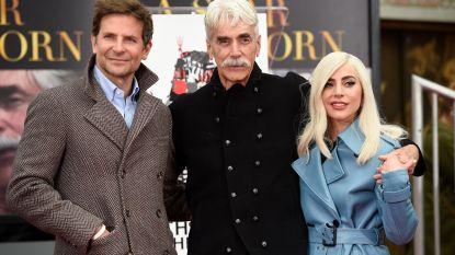 Lady Gaga en Bradley Cooper steunen collega Sam Elliott ondanks nederlaag op de Globes