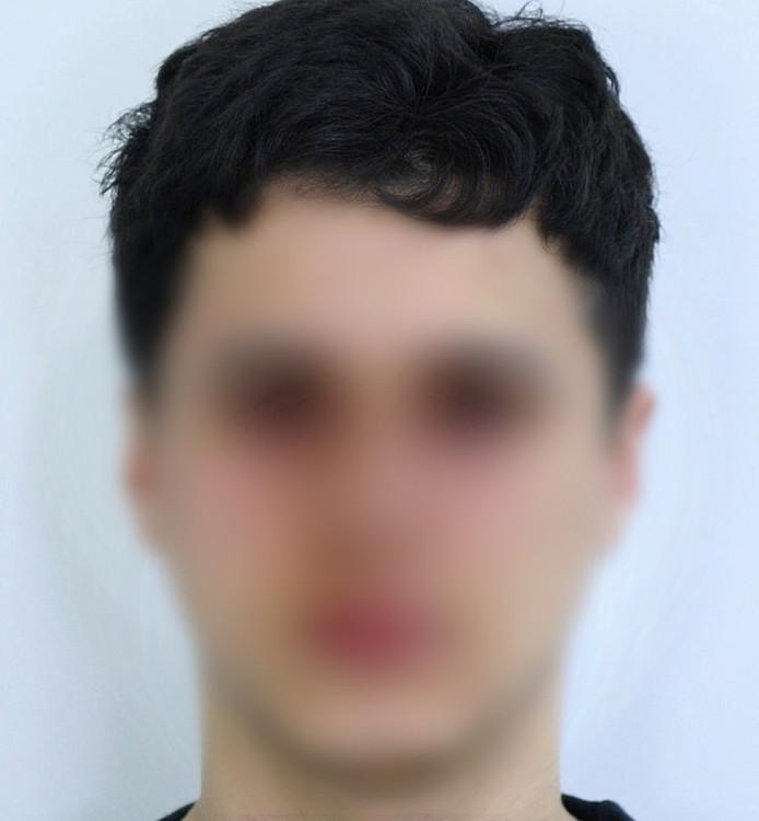 Youssef Ben Hamou, omdat hij nog verdachte is wordt zijn foto hier vaag afgebeeld