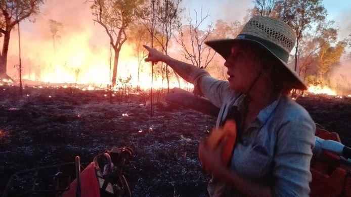 """""""Vooral de eerste nacht was ik bang dat ik door het vuur zou worden ingesloten"""", vertelt Ines Goovaerts"""