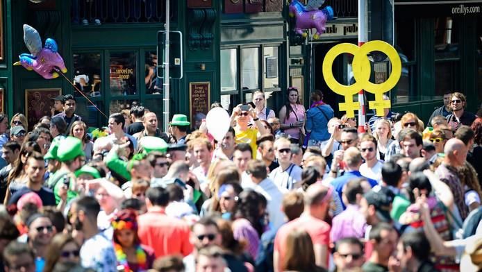 Demonstratie voor homorechten in België