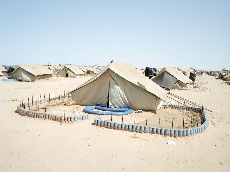 Kamp Choucha in Tunesië, juli 2011. Beeld Henk Wildschut