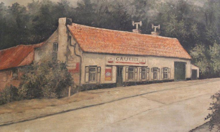 Een oude tekening toont hoe het café er anno 1965 bij stond: hetzelfde als vandaag.