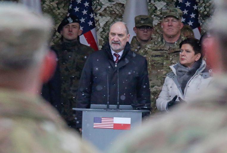 De Poolse minister van Defensie Antoni Macierewicz. Beeld AP