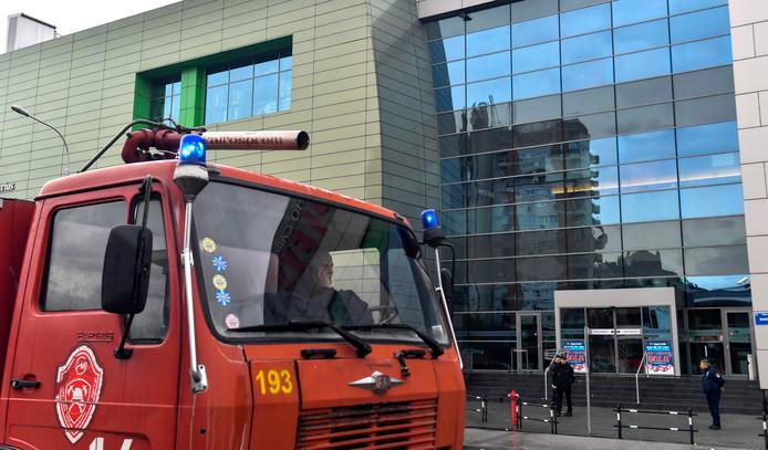 Een brandweerauto in Skopje (archiefbeeld)