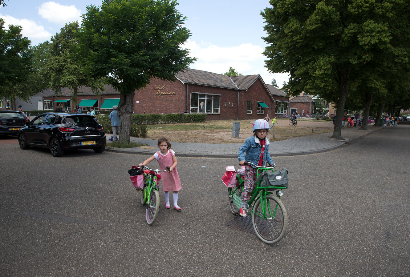 Basisschool Hogenkamp barst uit de voegen. Foto: Theo Kock
