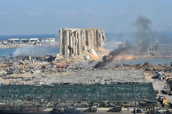 Le port de Beyrouth dévasté