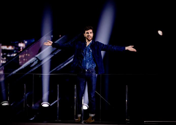 Zanger Duncan Laurence. Doordat hij het Eurovisie Songfestival dit jaar won, mag Nederland het evenement in 2020 organiseren.