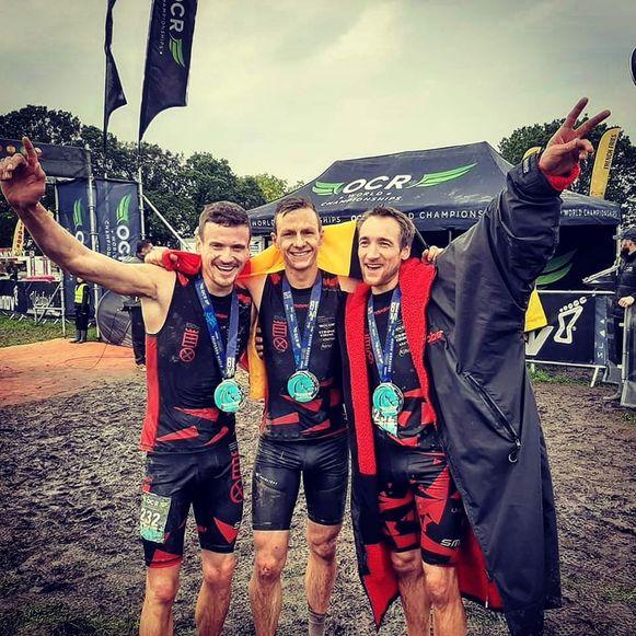 Het Belgisch team is wereldkampioen: Jensen, Thomas en Thibault