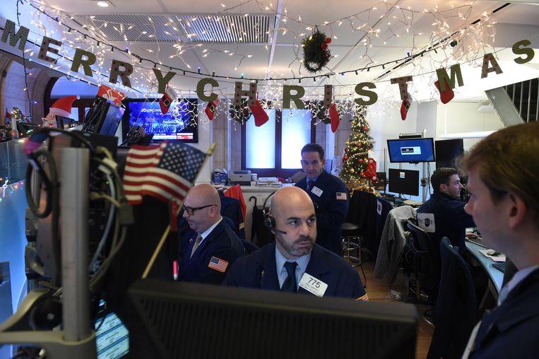 Beurshandelaren in New York.